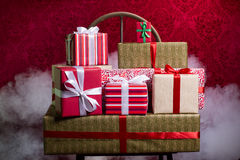 Gifts for Holidays, Christmas, anniversary Stock Photos