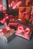 Gifts holidays Christmas, birthday, Valentine's Day. Stock Photo