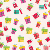 Gifts icons seamless pattern. greeting card mothers day Stock Images