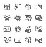 Gifts icons Royalty Free Stock Image