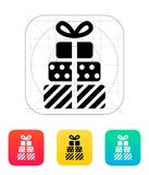 Gifts icons on white background. Vector illustration stock illustration