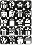 Gifts icons Royalty Free Stock Photo