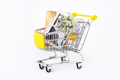 Gifts In A Shopping-cart Royalty Free Stock Photo