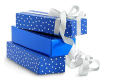Gifts / isolated / with hand made clipping path Stock Image