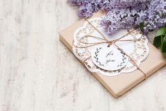Gifts. With label For you Stock Images