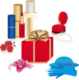 Gifts for lady Royalty Free Stock Photo