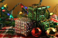 Gifts And Lights Royalty Free Stock Images
