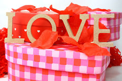 Gifts of love for valentines Stock Image