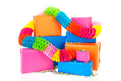 Gifts in many colors Royalty Free Stock Photos