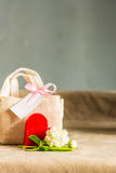Gifts on Mother's Day. Stock Images