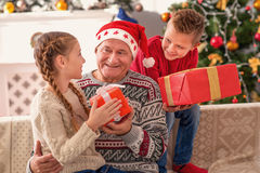 These gifts are for my grandchildren Royalty Free Stock Photos