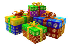 Gifts for New Year Royalty Free Stock Photos