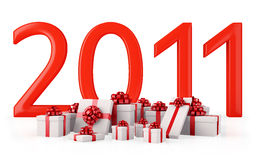 Gifts for New Year 2011 Royalty Free Stock Photography