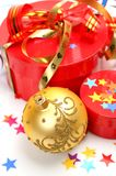Gifts and New Year's ornaments Royalty Free Stock Photos