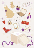 Gifts Out Of Box Royalty Free Stock Images