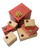 Gifts over white Royalty Free Stock Images