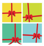 Gifts package ribbons Royalty Free Stock Photography