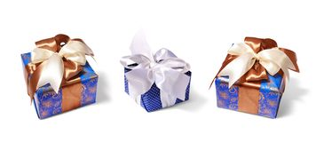 Gifts packing tied by ribbon royalty free stock images