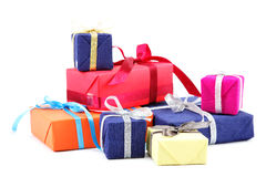 Gifts packs. Royalty Free Stock Image