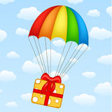Gifts on parachutes vector Royalty Free Stock Photo