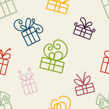 Gifts Pattern Stock Image