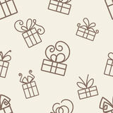 Gifts Pattern Royalty Free Stock Image