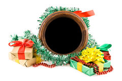 Gifts and photo Royalty Free Stock Images
