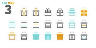 Gifts Pixel Perfect icons Well-crafted Vector Thin Line Icons 48x48 Ready for 24x24 Grid for Web Graphics and Apps. Part 1 Colors 3 Stock Images