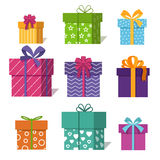 Gifts or presents boxes icons for valentine xmas design vector illustration Stock Photography