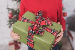 Gifts and presents in hands Royalty Free Stock Image