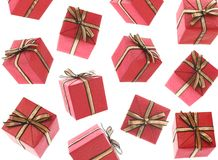 Gifts Raining (Isolated) Royalty Free Stock Images