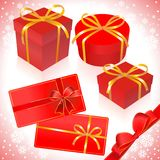 Gifts in red packing Stock Images
