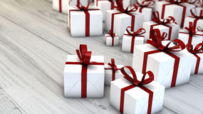Gifts render Royalty Free Stock Image