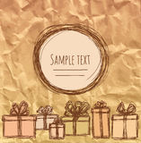 Gifts retro Royalty Free Stock Photography