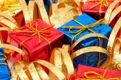 Gifts and ribbon Royalty Free Stock Image
