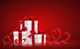 Gifts with ribbons Stock Image
