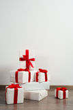 Gifts with ribbons Royalty Free Stock Image