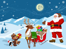 Gifts from Santa Claus Royalty Free Stock Photos