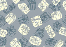 Gifts seamless pattern Stock Photography