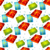 Gifts seamless pattern Royalty Free Stock Image