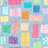 Gifts seamless pattern Stock Photo