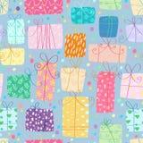 Gifts seamless pattern Stock Photo