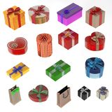 Gifts set Stock Photo