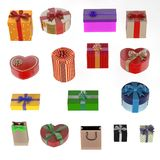 Gifts set Royalty Free Stock Images