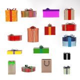 Gifts set Royalty Free Stock Photo