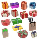 Gifts set Royalty Free Stock Image