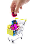 Gifts shopping Royalty Free Stock Images
