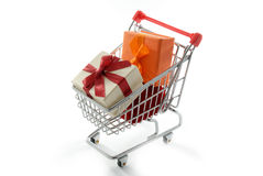 Gifts shopping Royalty Free Stock Photography