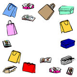 Gifts, shopping bags Royalty Free Stock Image