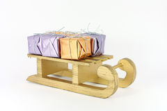 Gifts on sledge Royalty Free Stock Photo
